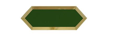 ECLIPSE DARK GREEN GOLD BISEL