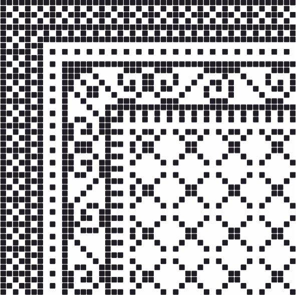Бордюр Пиксель 7 тип 1 400х400