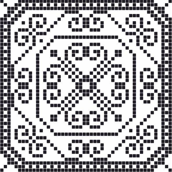 Бордюр Пиксель 7 тип 3 400х400
