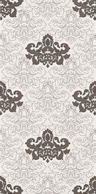 Декор mrv155 elite bianco-nero damasco