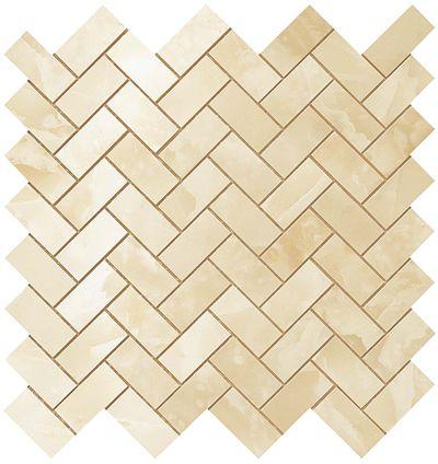 Honey Amber Herringbone Mosaic СП627