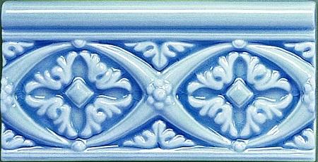 Modernista Relieve Bizantino C-C Azul Oscuro