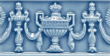 Modernista Relieve Copas C-C Azul Oscuro