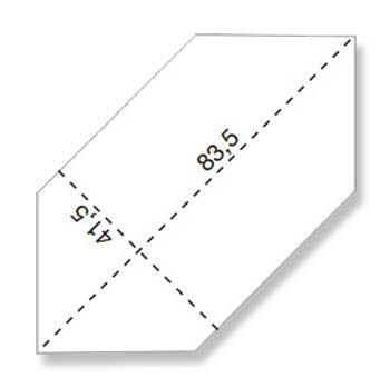 Напольная плитка EVOQUE COPPER LOSANGA RT 83,5x41,5