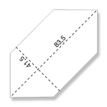 Напольная плитка EVOQUE WHITE LOSANGA RT 83,5x41,5