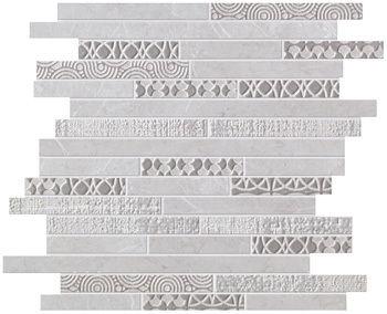 Облицовочная плитка supernatural frammenti argento mosaico 30.5х30.5